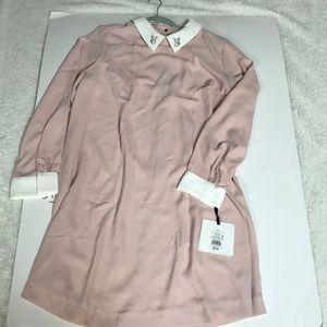 Victoria Beckham Pink Bunny Long Sleeve Dress
